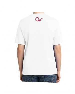 Kids Red and Blue Checker Logo White T-shirt 5.6 oz., 50/50 Heavyweight Blend T-Shirt (Available in 4 colors)