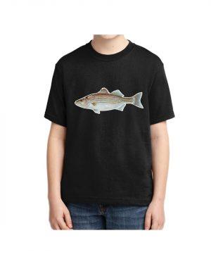Kids Striped Bass T-shirt 5.6 oz., 50/50 Heavyweight Blend