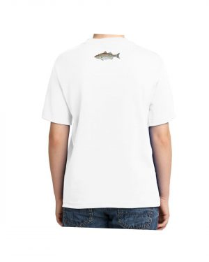 Striped Bass White Kids Tshirt
