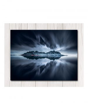 Dark Reflection Water Canvas Art - Av
