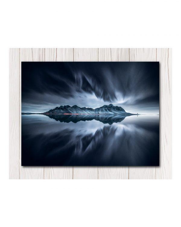 Dark Reflection Water Canvas Art - Av