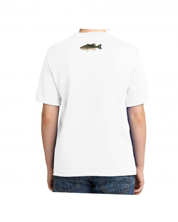 Large Mouth Bass White Kids Tshirt