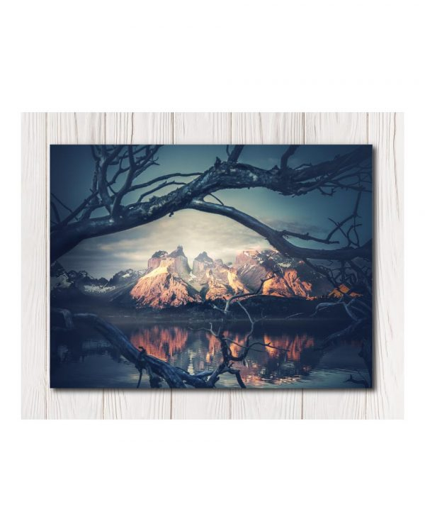 Night Mountains Canvas in 4 sizes