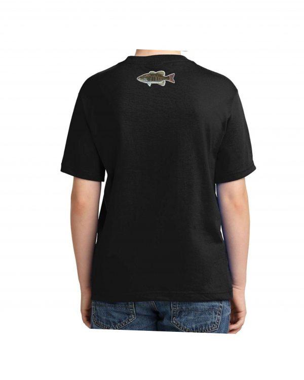 Small Mouth Bass Black Kids Tshirt