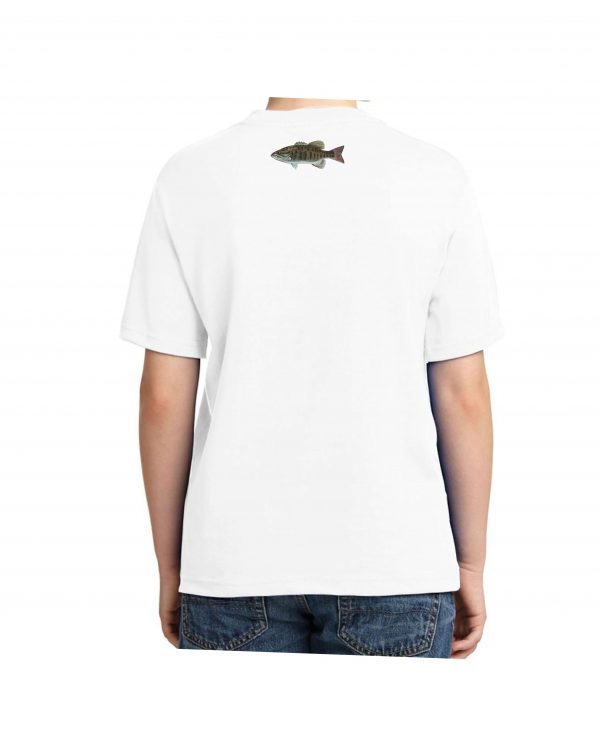 Small Mouth Bass White Kids Tshirt