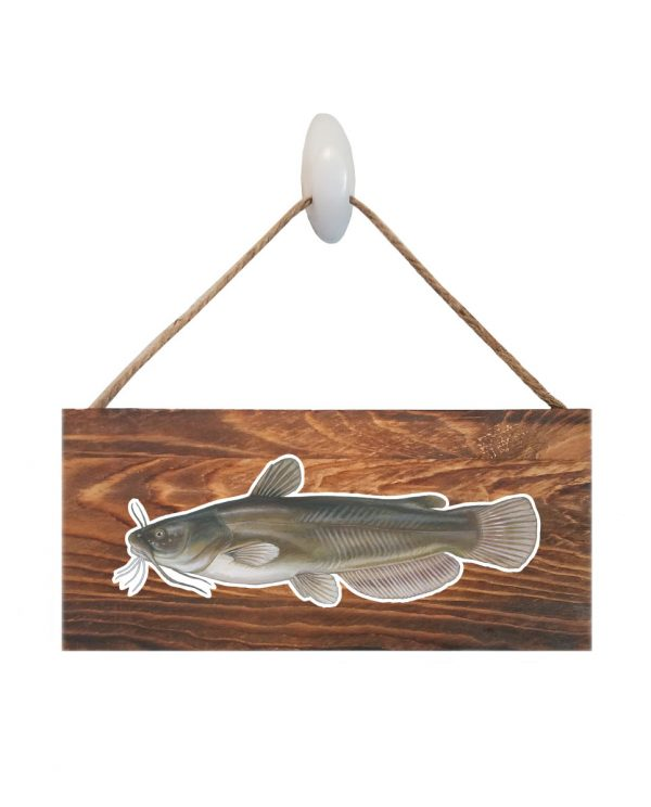 """Good Vibes™ Bullhead Dark Wood Sign. Size: 12"""" W x 5.5"""" H - With Rope 11"""" H -.30 Thick"""