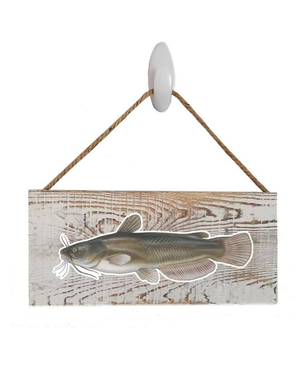 """Good Vibes™ Bullhead White Wood Sign. Size: 12"""" W x 5.5"""" H - With Rope 11"""" H -.30 Thick"""