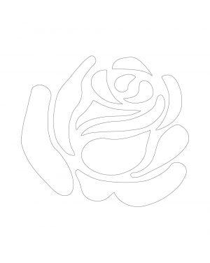 White Rose Vinyl Decal
