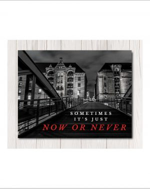 Now Or Never Canvas Wall Art in 4 siz