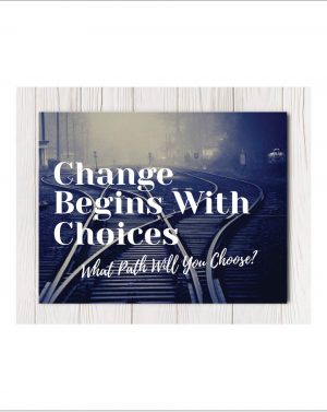 Choices Canvas Wall Art in 4 sizes