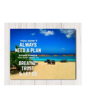 No Plan Needed Canvas Wall Art