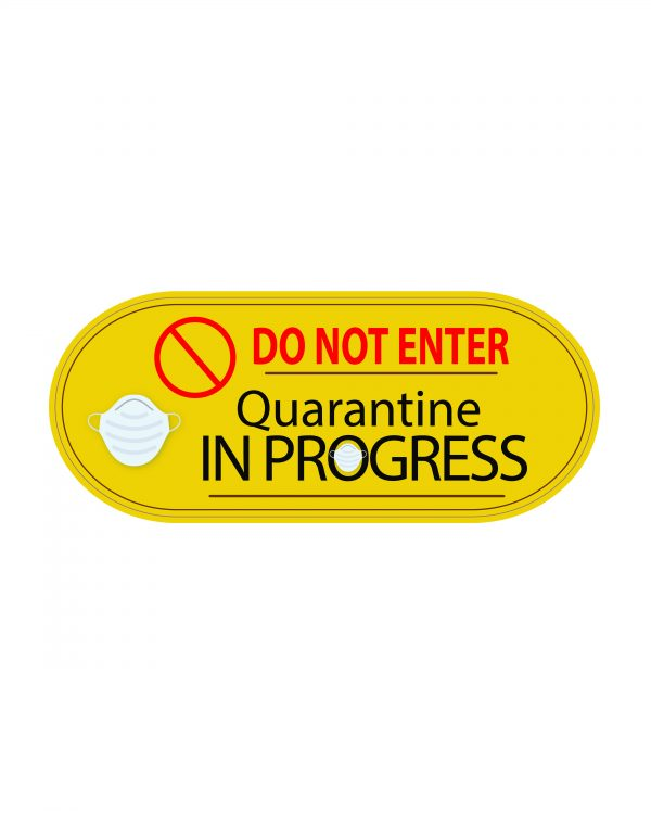 "Quarantine Face Mask Magnet or Sticker 7"" x 2.9"""