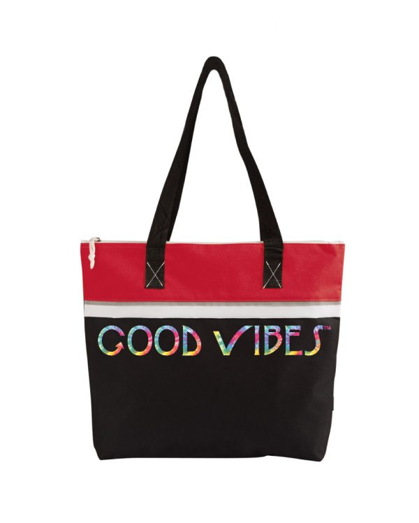 Good Vibes Tie Dye Red Tote Bag