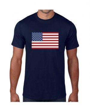 USA Mens Navy Tshirt